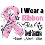 Great-Grandma Pink Ribbon Breast Cancer Shirts