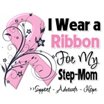 Step-Mom Pink Ribbon Breast Cancer Shirts