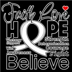 Faith Hope Retinoblastoma Cancer Shirts