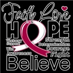 Faith Hope Throat Cancer Shirts