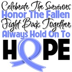 Esophageal Cancer Celebrate Honor Fight Hope Shirt