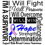 Male Breast Cancer Persevere Shirts