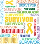 Survivor Colorful Childhood Cancer Shirts