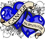 Colon Cancer Survivor Double Hearts Shirts