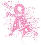 Breast Cancer Floral Pink Ribbon Shirts