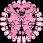 Breast Cancer Butterfly Pink Ribbon Shirts