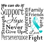Cervical Cancer Supportive Words Shirts