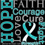 Hope Faith Courage Cervical Cancer Shirts
