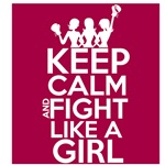 Throat Cancer Keep Calm and Fight Like a Girl