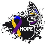 Hope Grunge Butterfly Bladder Cancer Shirts