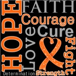 Multiple Sclerosis Hope Courage Faith Shirts