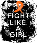Fight Like a Girl Multiple Sclerosis Grunge Shirts