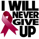 I Will Never Give Up Multiple Myeloma Shirts