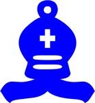 Blue Bishop Chess Piece