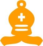 Orange Bishop Chess Piece