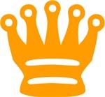 Orange Queen Chess Piece