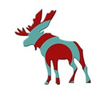 Moose Elk silhouette with target circle