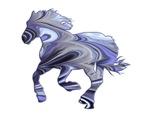 Running Horse with purple swirls