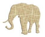 Elephant Silhouette lines