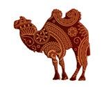 Camel silhouette Paisley