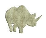 Rhinoceros silhouette swirls