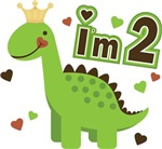 I'm 2 Dinosaur Princess 2nd Birthday