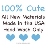 100% Cute Made In USA New Baby Boy Onesies Bib