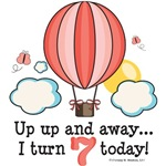 Hot Air Balloon 7th Birthday Party Ideas Gifts
