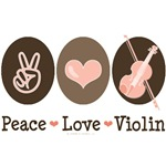 Peace Love Violin Violinist T-shirt Gifts