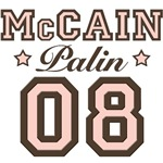 McCain Palin 2008 T shirt Tees Buttons Stickers