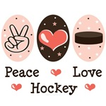 Peace Love Ice Hockey T shirt Gifts