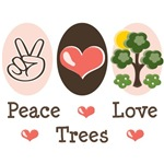 Peace Love Trees T-shirt Gifts