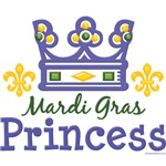 Mardi Gras Princess Crown T shirt Gifts