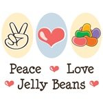 Peace Love Jelly Beans T-shirt Tees Easter Basket