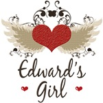 Twilight Edward's Girl T-shirt Tees Gifts