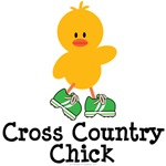 Cross Country Chick T shirt Tees and Gifts