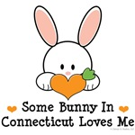 Some Bunny In Connecticut Loves Me T-shirt Gifts