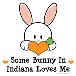 Some Bunny In Indiana Loves Me T-shirt Gifts