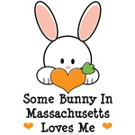 Some Bunny In Massachusetts Loves Me T-shirt Gifts