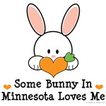 Some Bunny In Minnesota Loves Me T-shirt Gifts