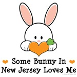 Some Bunny In New Jersey Loves Me T shirt Gifts