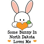 Some Bunny In North Dakota Loves Me T shirt Gifts