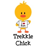 I Heart Kirk Trekkie Chick T-shirts Tees Gifts