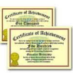 <b>Certificates of Achievement</b>