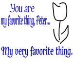 Fringe Quote You Are My Favorite Thing Peter -blue