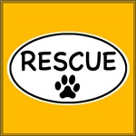 Rescue White Oval