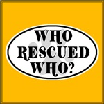 Who Rescued Who? White Oval