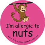 I'm allergic to nuts-pink