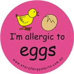 I'm allergic to eggs-pink