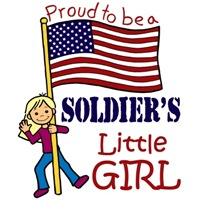 Proud to Be a Soldier's Little Girl (Blonde Hair)